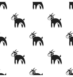 Goat icon black Single bio eco organic product vector image