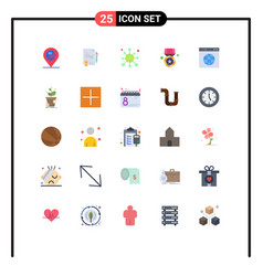 Group 25 flat colors signs and symbols vector