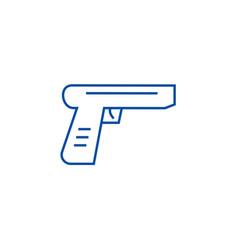gun line icon concept gun flat symbol vector image