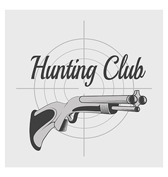 hunting club v vector image