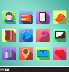 icons for business flat set vector image