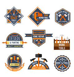 Icons set of home repair work tools vector