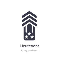 Lieutenant icon isolated lieutenant icon from vector