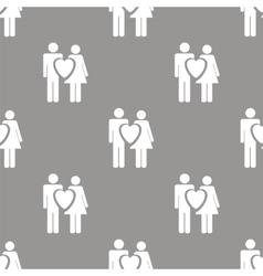 Love seamless pattern vector image