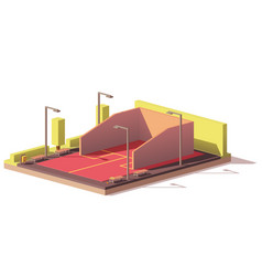 low poly squash court vector image