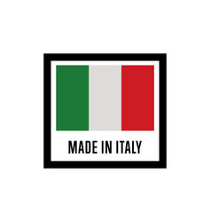 Made in italy isolated label for products vector