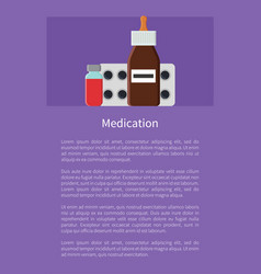 Medication poster and text vector