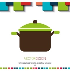 menu icon design vector image