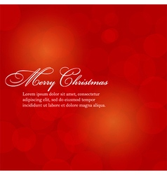 Merry Christmas abstract background with bokeh vector image
