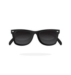 Modern sunglasses with black lenses vector