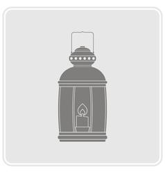 monochrome icon with lantern vector image