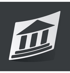 Monochrome museum sticker vector