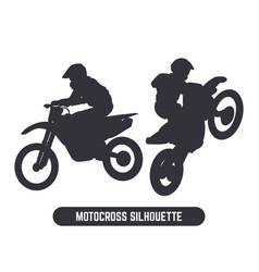 Motocross jump silhouette graphic element vector