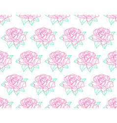 outline rose flower pattern vector image