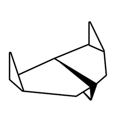 Paper aircraft flight toy outline vector