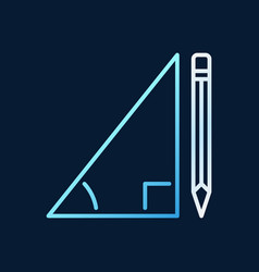 pencil with triangle linear concept colored vector image