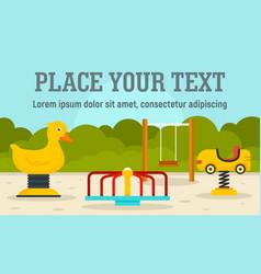 play kindergarten concept banner flat style vector image