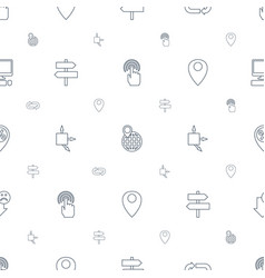 pointer icons pattern seamless white background vector image