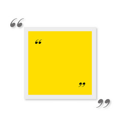 Quote blank template for text with shadow vector