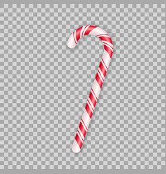 Realistic christmas candy cane isolated on vector