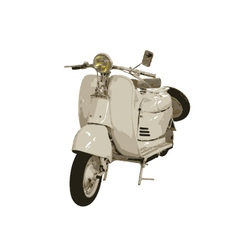 Retro Motorcycle Vect vector
