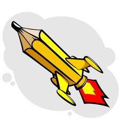 Rocket pencil vector