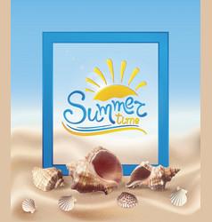 Sand and seashells vector