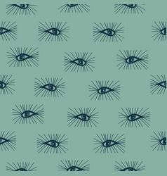 Seamless pattern eyes hand drawn vector