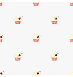 Seamless pattern sketch cupcake vector image