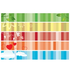 set of color banners with nature vector image