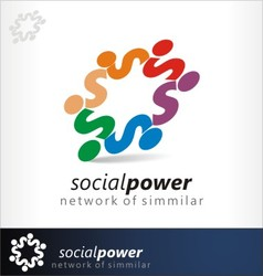 social power vector image