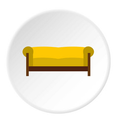 Sofa icon circle vector