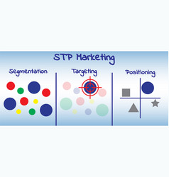 Stp marketing diagram - process vector