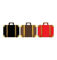 Suitcase set icon Flat design style modern vector image
