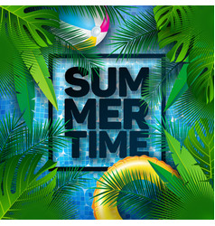 summer with float and tropical palm vector image