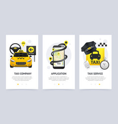 taxi vertical banners set vector image