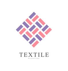 textile original logo creative sign for company vector image