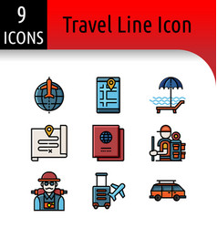 travel accessory linear icon vector image