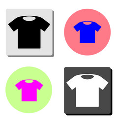 tshirt flat icon vector image