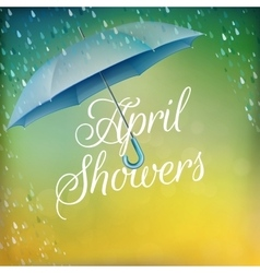 Umbrella in rain eps 10 vector