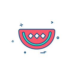 water melon icon design vector image