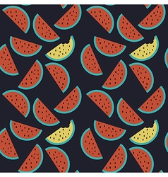 watermelon seamless pattern background vector image