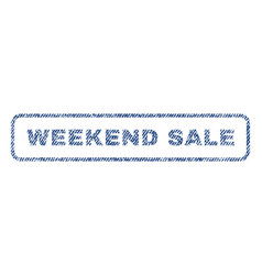 weekend sale textile stamp vector image