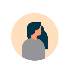 woman character profile portrait on white vector image