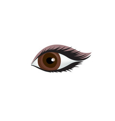 womans eye icon sexy eye with perfectly shaped vector image