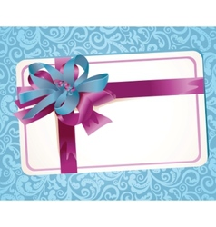 beautiful greeting card with ribbons vector image vector image