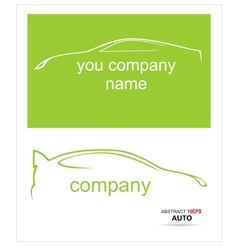 Car silhouette on a white background vector image vector image