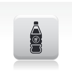 cocktail bottle icon vector image vector image