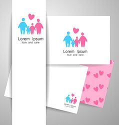 family love logo template vector image