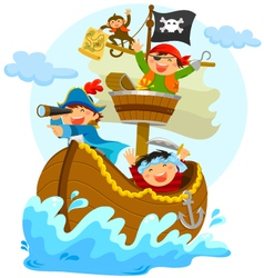 happy pirates vector image vector image